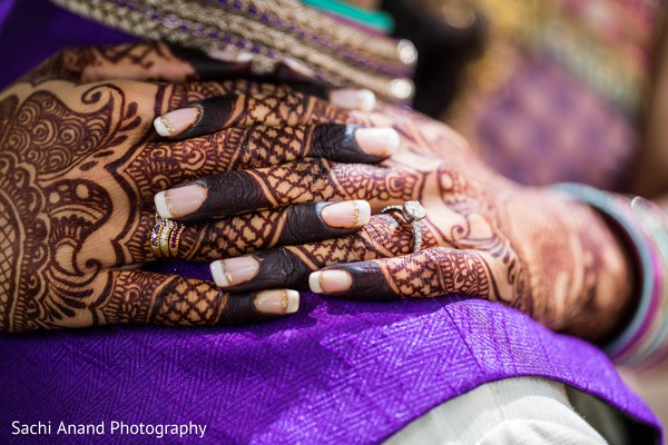 Bridal mehndi in Herndon, VA, Indian Wedding by Sachi Anand Photography