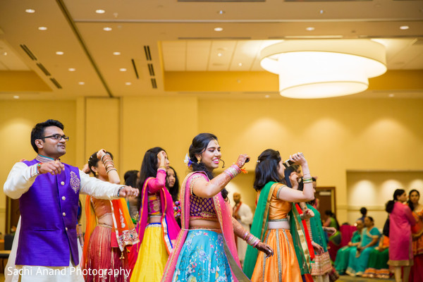 Garba dance in Herndon, VA, Indian Wedding by Sachi Anand Photography