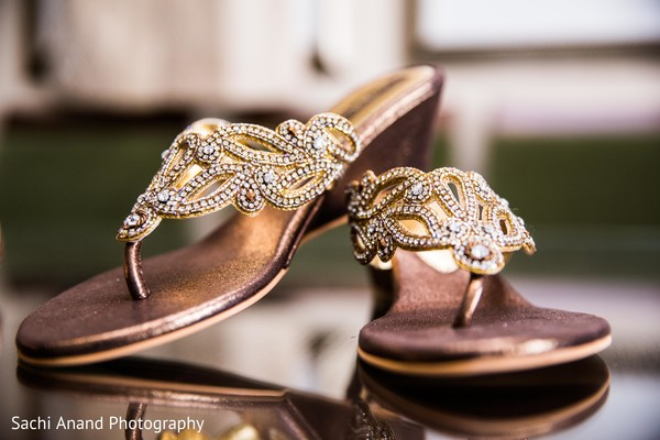 Bridal shoes in Herndon, VA, Indian Wedding by Sachi Anand Photography