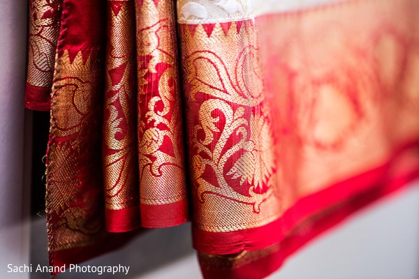 Bridal sari in Herndon, VA, Indian Wedding by Sachi Anand Photography