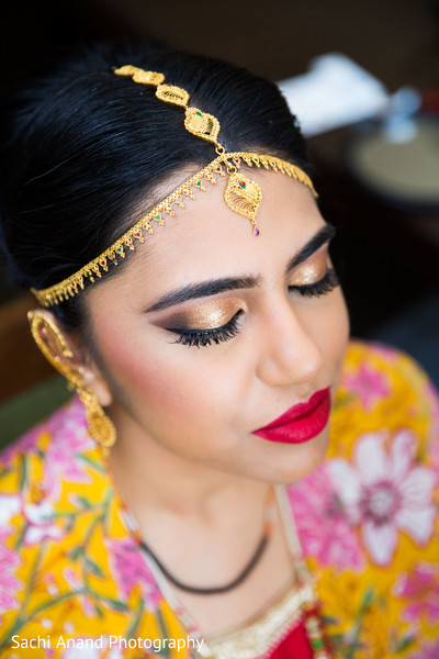 Indian bridal makeup in Herndon, VA, Indian Wedding by Sachi Anand Photography