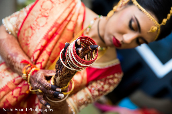 Indian bride getting ready in Herndon, VA, Indian Wedding by Sachi Anand Photography