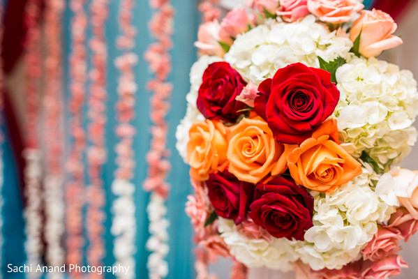 Bridal bouquet in Herndon, VA, Indian Wedding by Sachi Anand Photography