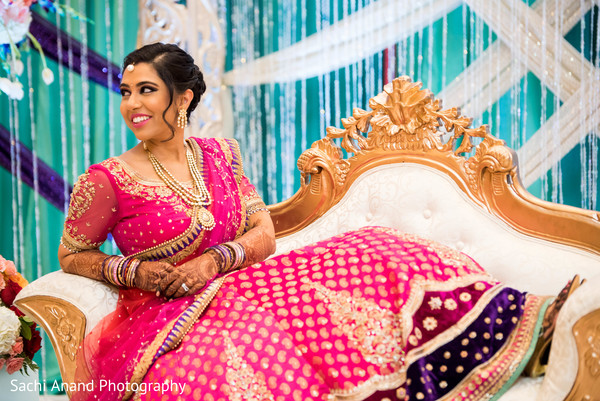 Reception portraits in Herndon, VA, Indian Wedding by Sachi Anand Photography