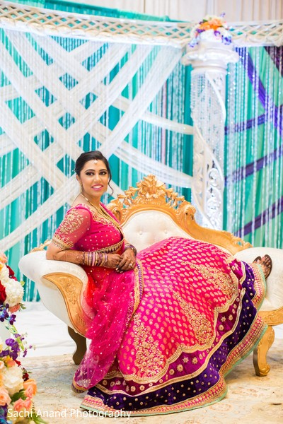 Indian bridal portrait in Herndon, VA, Indian Wedding by Sachi Anand Photography