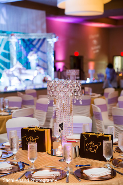 Centerpieces in Herndon, VA, Indian Wedding by Sachi Anand Photography