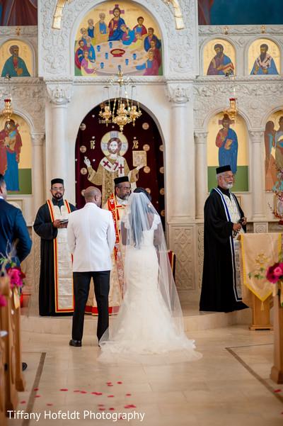 Bride and Groom Church Wedding in Austin, Texas Indian Fusion Wedding by Tiffany Hofeldt Photography