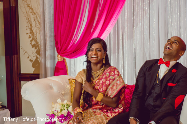 Bride and Groom Wedding Reception in Austin, Texas Indian Fusion Wedding by Tiffany Hofeldt Photography