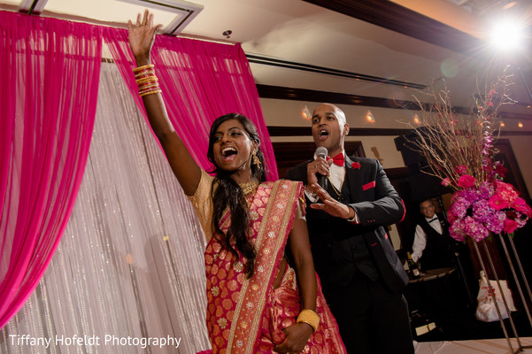 Bride and Groom Reception Speech in Austin, Texas Indian Fusion Wedding by Tiffany Hofeldt Photography