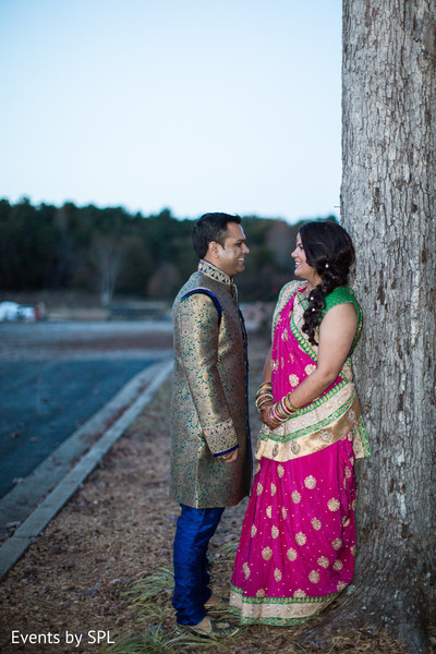 Indian bride and groom portrait in Atlanta, GA Fusion by Events by SPL