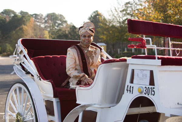 Indian groom horse carriage entrance in Atlanta, GA Fusion by Events by SPL