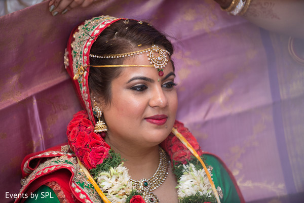 See the beautiful Hair & Makeup this indian bride is wearing in her wedding ceremony in Atlanta, GA Fusion by Events by SPL