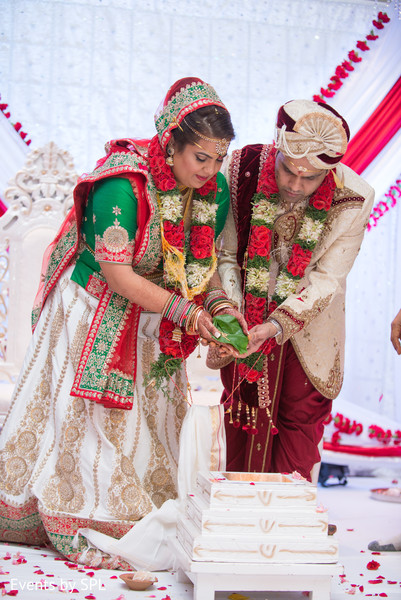 See this beautiful indian couple celebrate their wedding ceremony in Atlanta, GA Fusion by Events by SPL