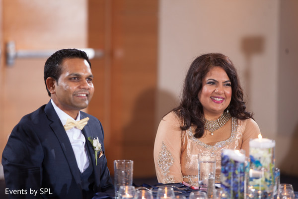 Sweet indian couple at their wedding reception in Atlanta, GA Fusion by Events by SPL