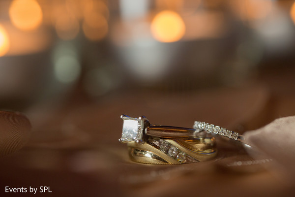 Beautiful wedding rings for a beautiful indian couple in Atlanta, GA Fusion by Events by SPL
