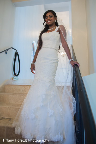 Bride in Wedding Gown in Austin, Texas Indian Fusion Wedding by Tiffany Hofeldt Photography