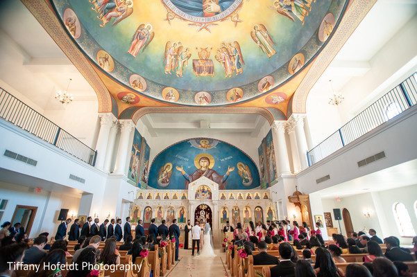 Bride and Groom Church Wedding in Austin, Texas Indian Fusion Wedding by Tiffany Hofeldt Photography