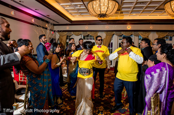 Wedding Party Entrance in Austin, Texas Indian Fusion Wedding by Tiffany Hofeldt Photography