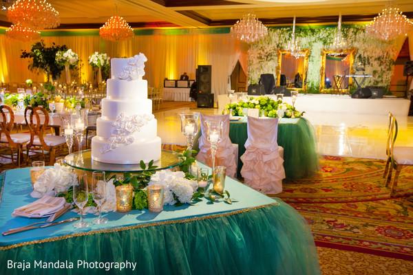 Wedding cake in Westlake Village, CA Indian Wedding by Braja Mandala Photography