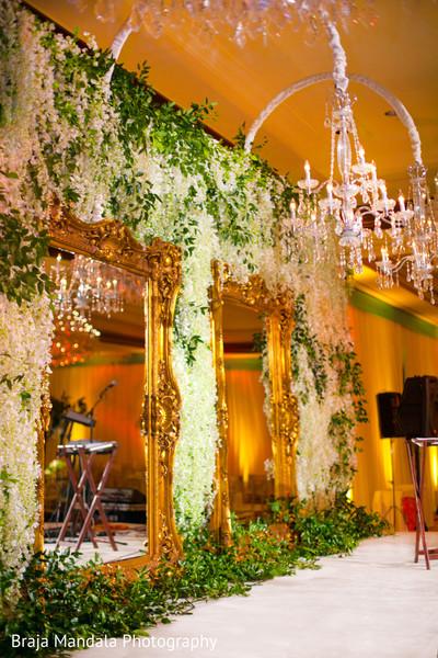 Reception d?cor in Westlake Village, CA Indian Wedding by Braja Mandala Photography