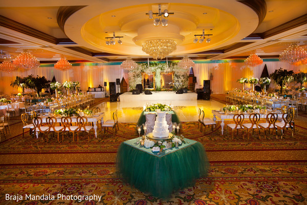 Reception d?cor in Westlake Village, CA Indian Wedding by Braja Mandala Photography