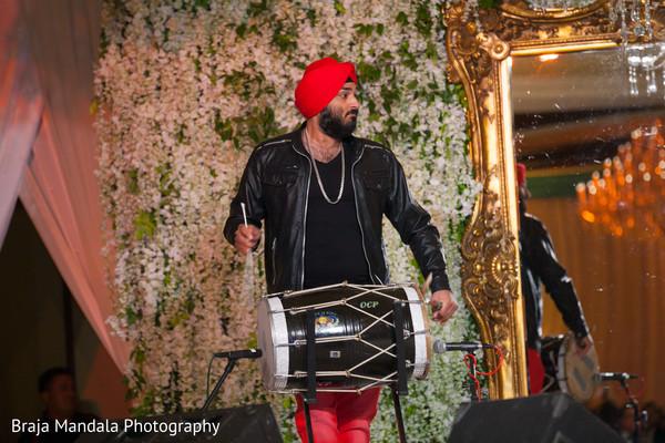 Dhol player in Westlake Village, CA Indian Wedding by Braja Mandala Photography
