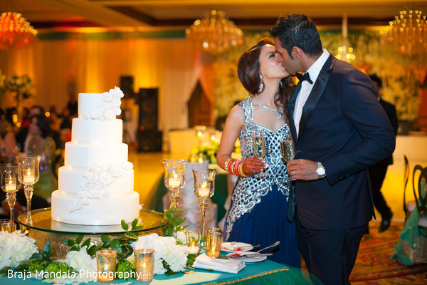 Cake cutting in Westlake Village, CA Indian Wedding by Braja Mandala Photography
