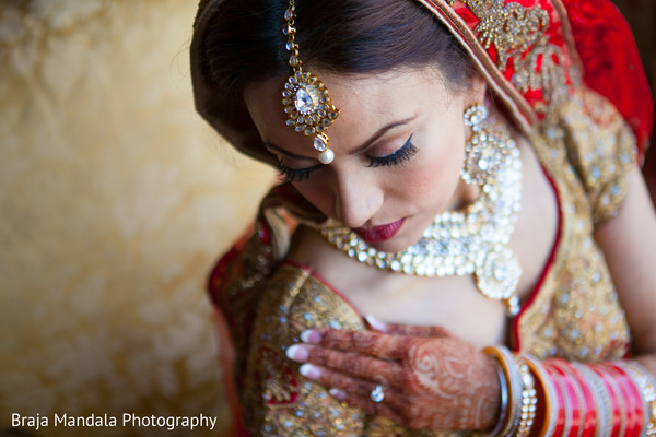 Indian bride in Westlake Village, CA Indian Wedding by Braja Mandala Photography