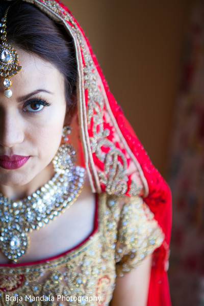 Indian bridal portrait in Westlake Village, CA Indian Wedding by Braja Mandala Photography