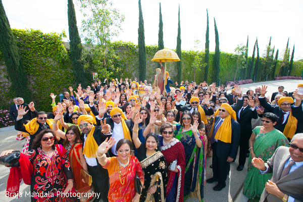 Baraat in Westlake Village, CA Indian Wedding by Braja Mandala Photography