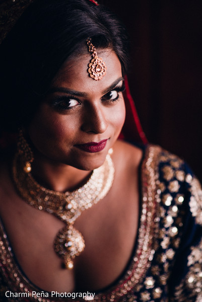 Indian bride in Morristown, New Jersey Indian Wedding by Charmi Peña Photography