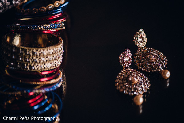 South asian bridal jewelry in Morristown, New Jersey Indian Wedding by Charmi Peña Photography