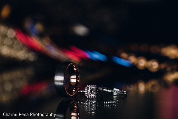 Diamond ring in Morristown, New Jersey Indian Wedding by Charmi Peña Photography