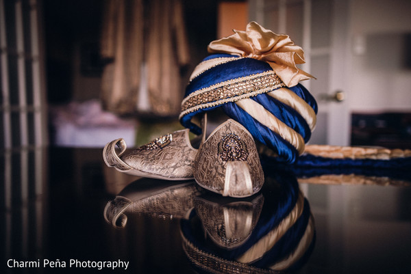 Groom shoes in Morristown, New Jersey Indian Wedding by Charmi Peña Photography