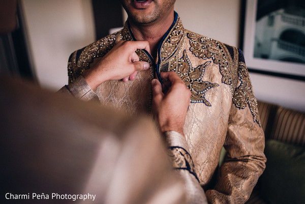 Groomsmen fashion in Morristown, New Jersey Indian Wedding by Charmi Peña Photography