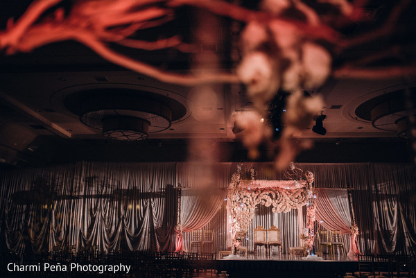 Indian wedding mandap in Morristown, New Jersey Indian Wedding by Charmi Peña Photography