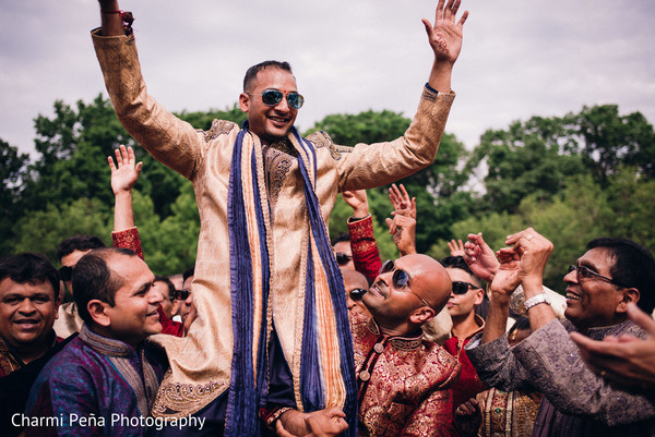 Baraat in Morristown, New Jersey Indian Wedding by Charmi Peña Photography