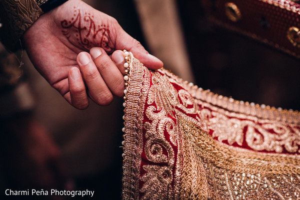 Groom's mehdni in Morristown, New Jersey Indian Wedding by Charmi Peña Photography