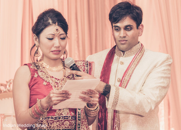 Bride Speech in Long Beach, CA Indian Fusion Wedding by Indian Wedding Snap