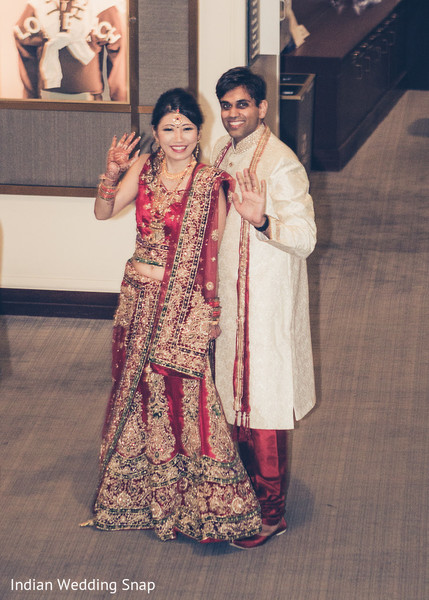 Indian Wedding Reception in Long Beach, CA Indian Fusion Wedding by Indian Wedding Snap