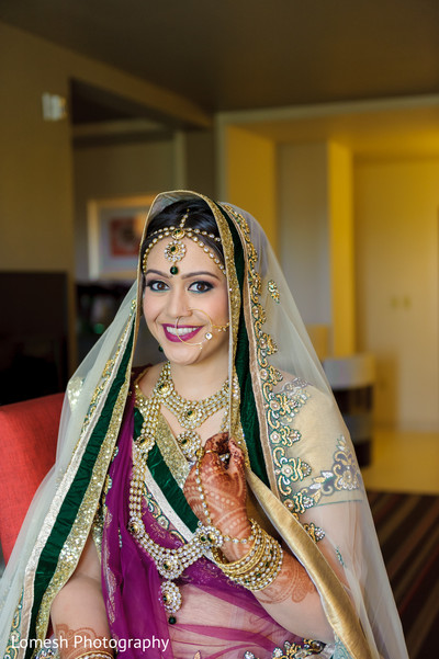Bridal Portrait in Dallas, TX Indian Wedding by Lomesh Photography
