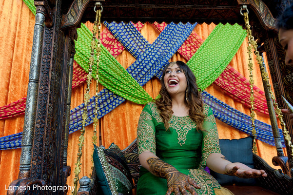 Bride at Sangeet Night in Dallas, TX Indian Wedding by Lomesh Photography