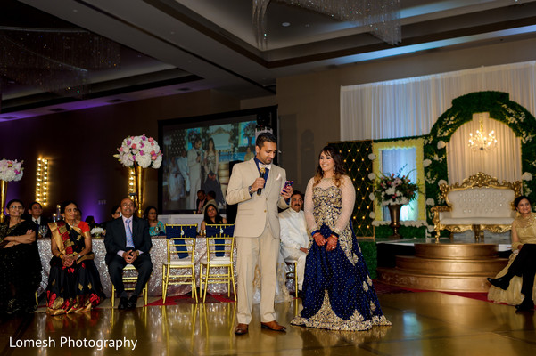 Bride and Groom Speech in Dallas, TX Indian Wedding by Lomesh Photography