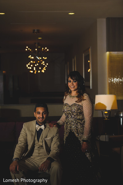 Bride and Groom Fashion in Dallas, TX Indian Wedding by Lomesh Photography