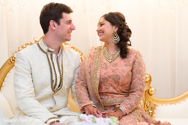 Bride and Groom Portrait in San Antonio, TX Indian Fusion Wedding by Semon Tam Photography