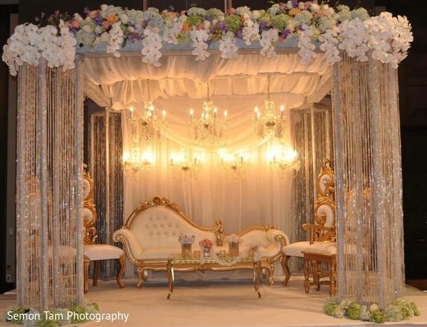 Beautiful Wedding Decor in San Antonio, TX Indian Fusion Wedding by Semon Tam Photography