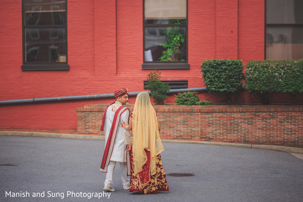 Indian Bride and Groom Portrait in Lancaster, PA Indian Wedding by Manish and Sung Photography