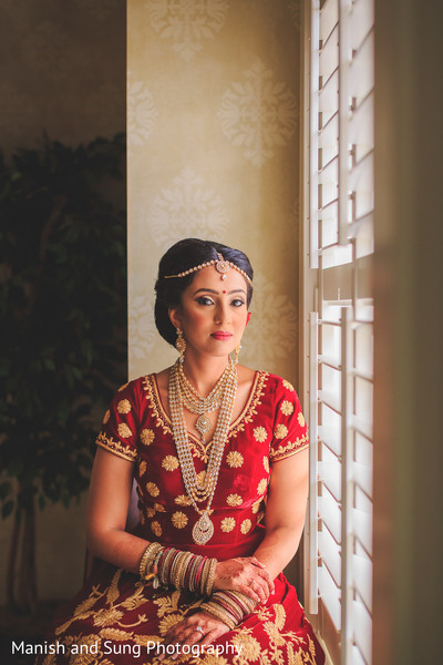 Indian Bride Portrait in Lancaster, PA Indian Wedding by Manish and Sung Photography