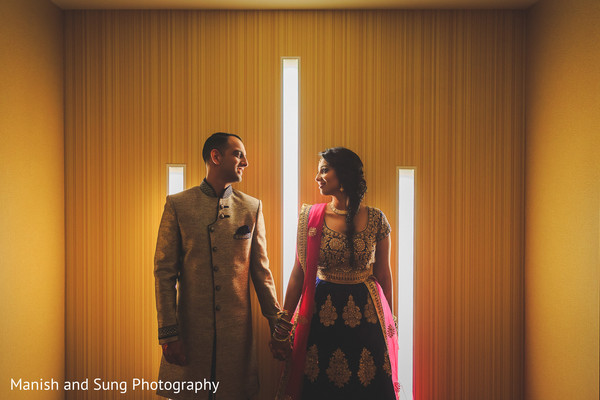 Bride and Groom Wedding Portrait in Lancaster, PA Indian Wedding by Manish and Sung Photography