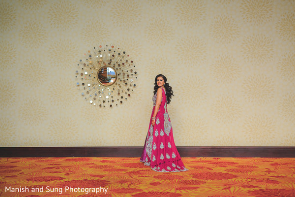 Pink Bridal Lengha in Lancaster, PA Indian Wedding by Manish and Sung Photography
